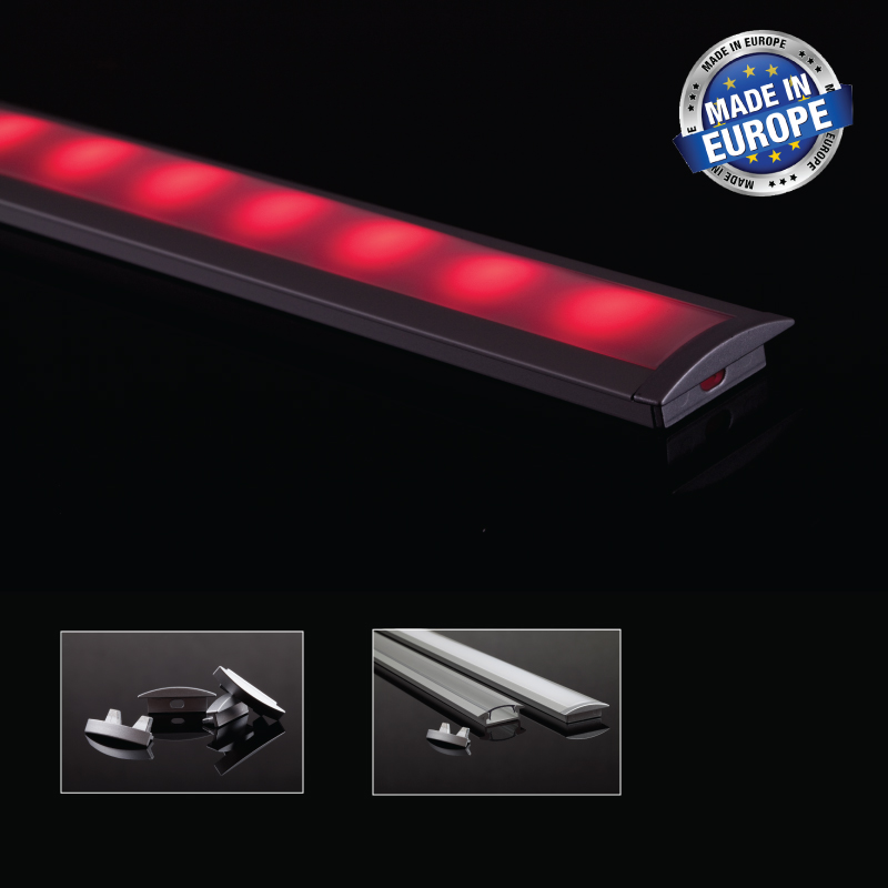 Aluminium LED-list Infälld 8 Mm, 2 Meter