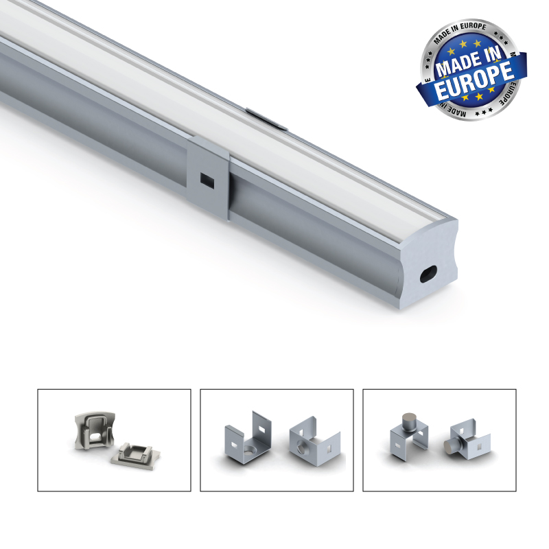 Aluminium LED-list 15 Mm, 2 Meter