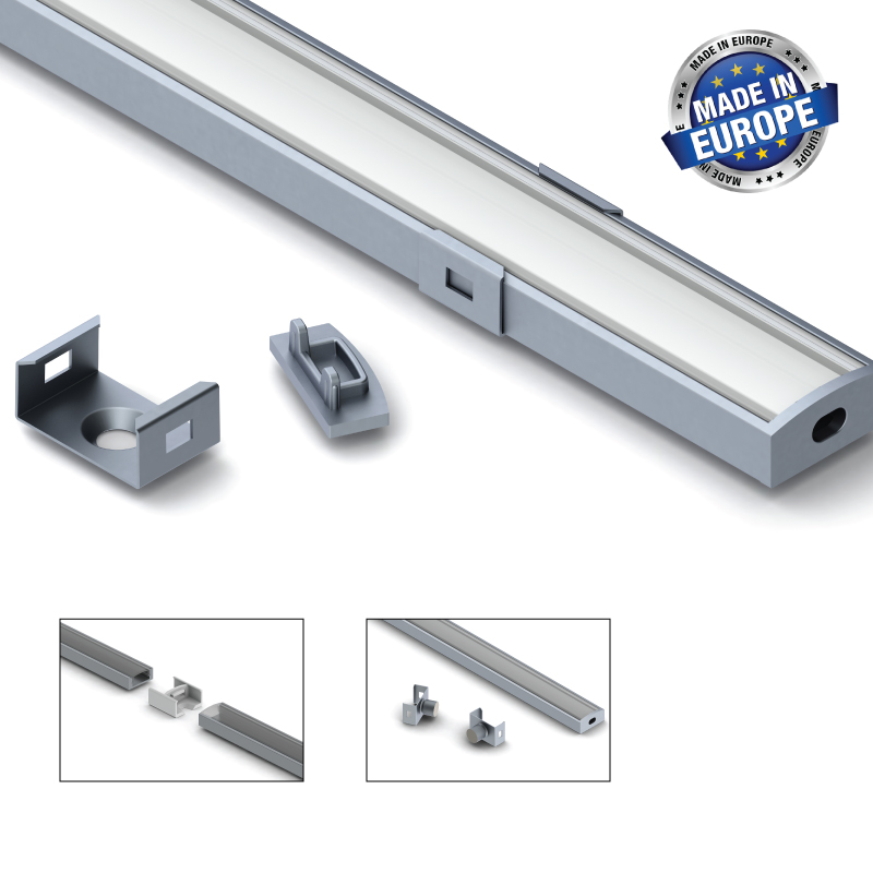 Aluminium LED-list 7 Mm, 2 Meter
