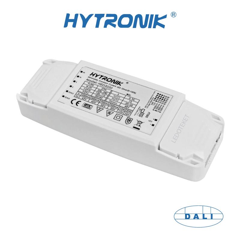 Hytronik LED Multidriver 20W HED2020 350mA-900mA, 12v, 24V (DALI)
